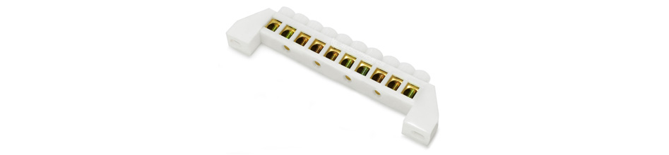 Domino isolé 10 ports Ø6.5mm