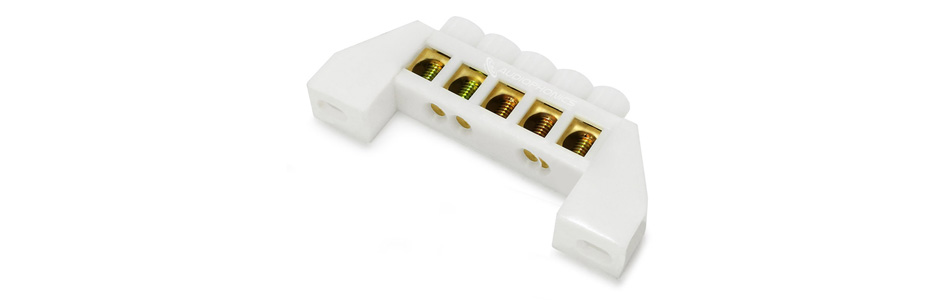 Domino isolé 5 ports Ø6.5mm