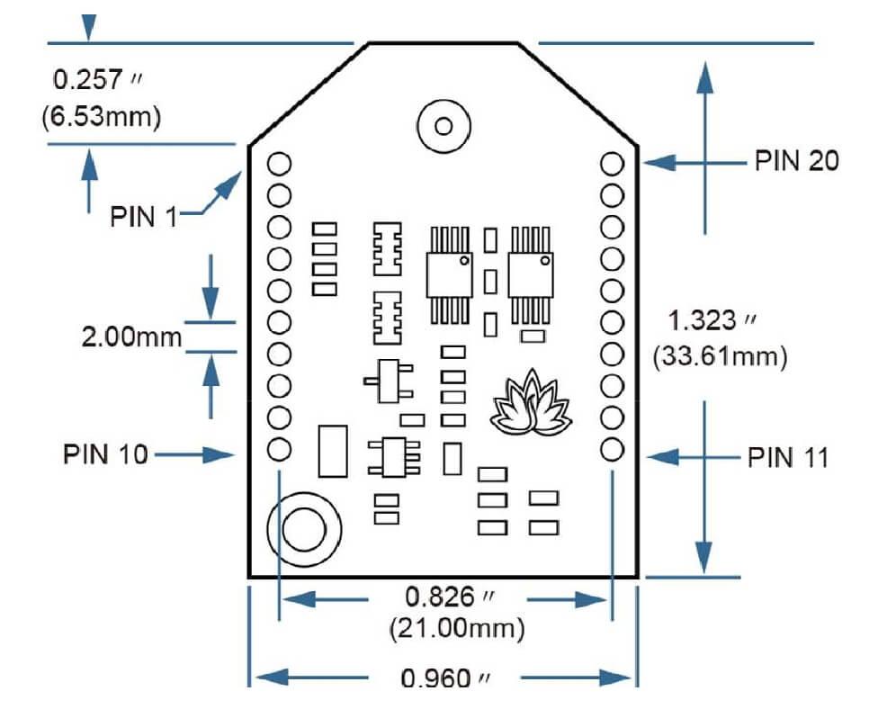 Dimensions entraxes module récepteur bluetooth audiophile