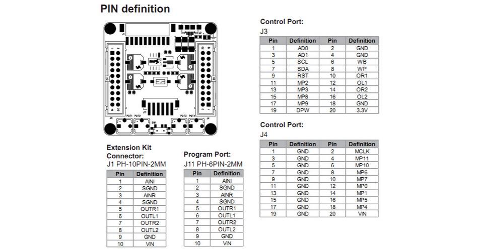 Câble Plat 10 Pins PH 2.0mm pour Module DSP Wondom 50cm