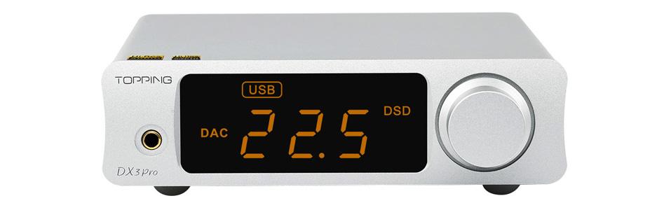DAC 2x AK4493EQ Amplificateur Casque TPA6120A2 Bluetooth LDAC XMOS XU208 32bit 768kHz DSD512 Argent