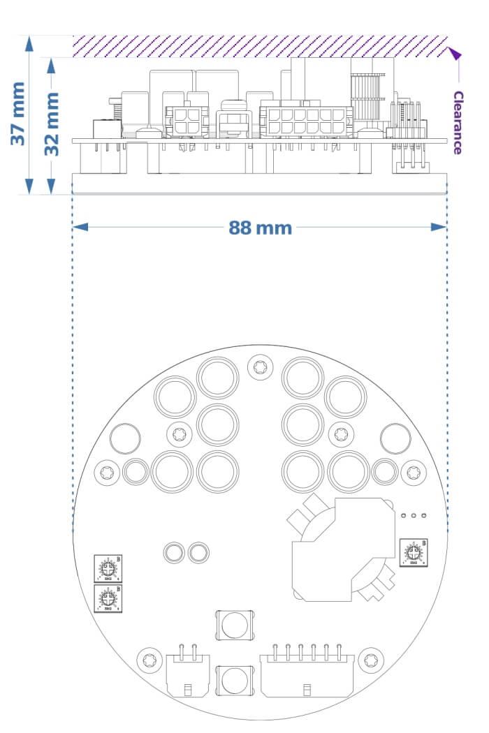 NC400 dimensions module Hypex