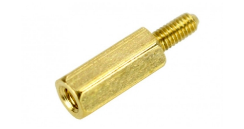 Brass Spacers M2.5x12mm Male / Female (x10)