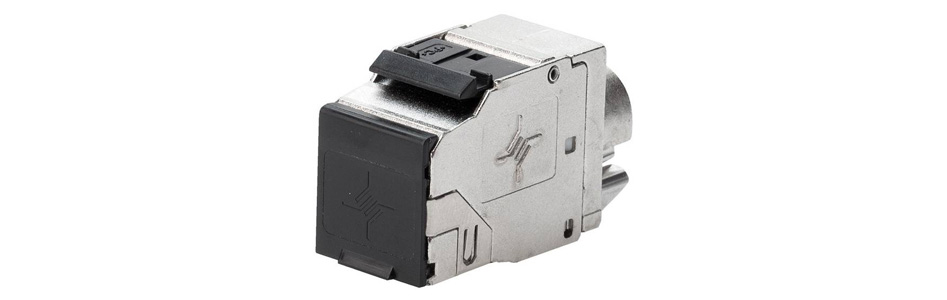 Telegärtner AMJ Embase RJ45 Ethernet Cat 8.1 High End Métal