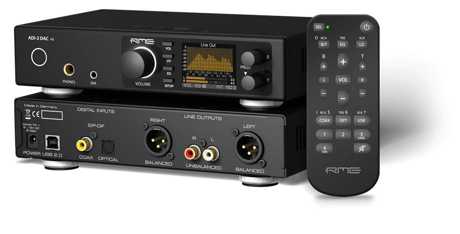 RME ADI-2 Balanced DAC Headphone Amplifier AK4490 32bit 768kHz DSD256 Black