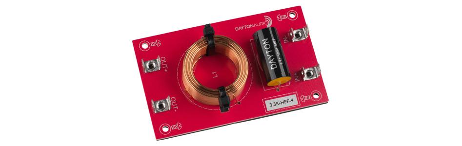 Dayton Audio 3.5K-HPF-4 Filtre Passe-Haut pour Haut-Parleurs 3500Hz 12dB/Octave