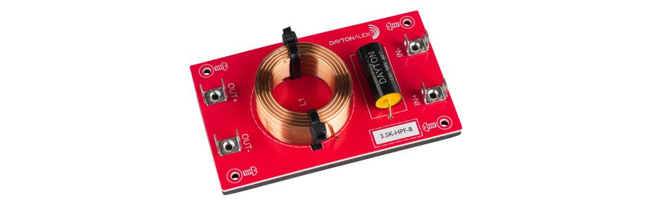 Dayton Audio 3.5K-HPF-8 Filtre Passe-Haut pour Haut-Parleurs 3500Hz 12dB/Octave