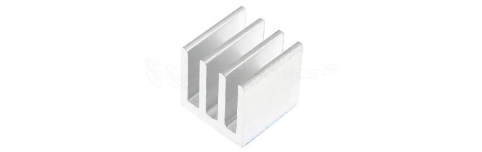 Radiateur Dissipateur Thermique Aluminium 10x10x10mm Argent
