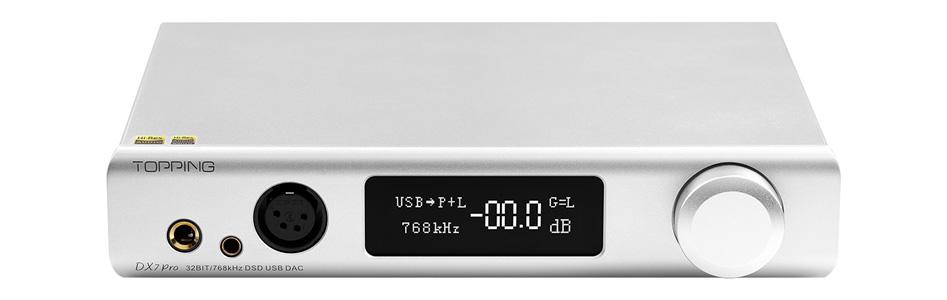 Topping DX7 Pro DAC Amplificateur Casque Symétrique ES9038Pro Bluetooth 5.0 aptX HD LDAC 32bit 768kHz DSD512