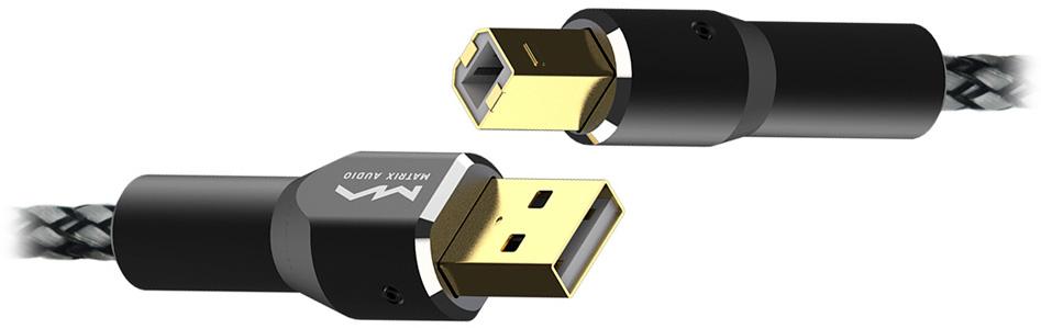 Matrix Câble USB-A Mâle vers USB-B Mâle Cuivre OFC Plaqué Or 1.2m