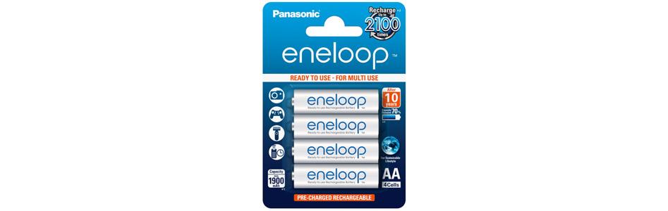 Panasonic Eneloop Accumulateurs NiMh AA 1.2V 1900mAh (Set x4)