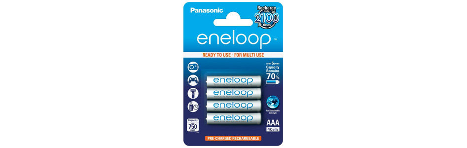 Panasonic Eneloop Accumulateurs NiMh AAA 1.2V 750mAh (Set x4)