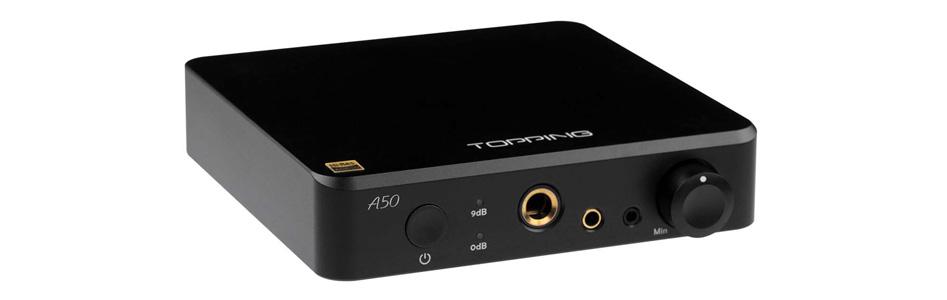 Topping A50 Amplificateur Casque Symétrique Noir
