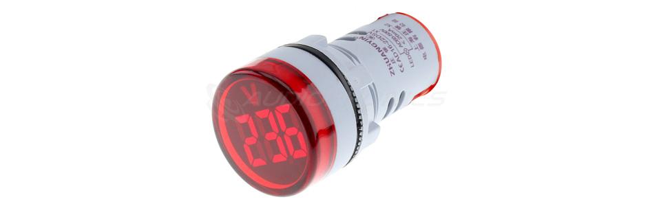 Afficheur de tension voltmètre à LED rouge 60-500VAC