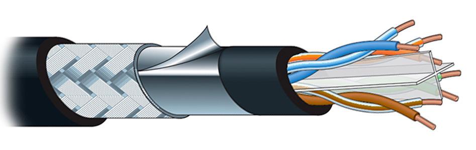 Canare RJC6-4P-SFM Câble Ethernet Cat 6 SF/UTP 8x0.26mm² Ø8.6mm