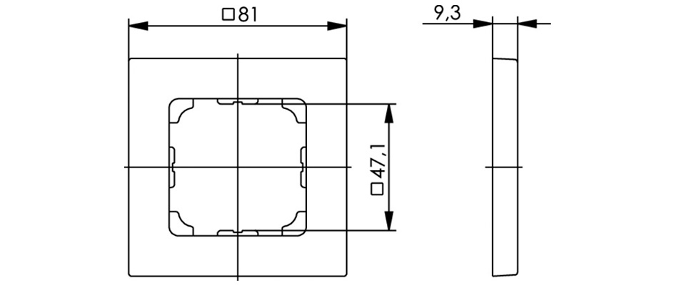 Telegartner B00004A0024 cache plastique pour embase murale RJ45