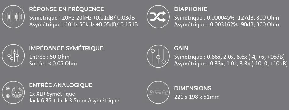 Monolith THX AAA-887 Amplificateur Casque Symétrique