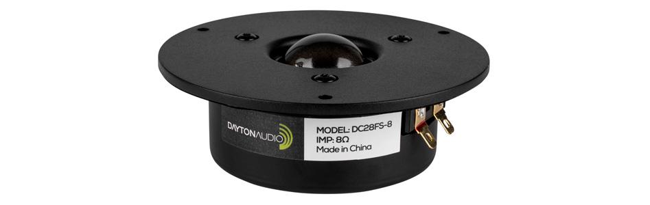 Dayton Audio DC28FS-8 Haut-Parleur Tweeter à Dôme 50W 8Ω 89dB 1600Hz - 20000Hz Ø2.9cm