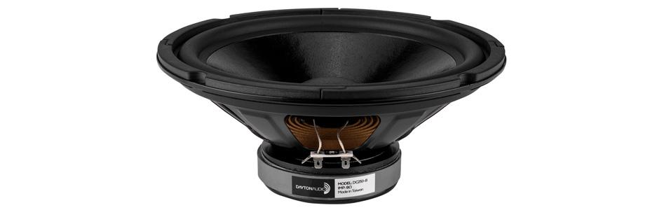 Dayton Audio DC250-8 Haut-Parleur de Grave 70W 8Ω 88dB 25Hz - 2500Hz Ø25.4cm