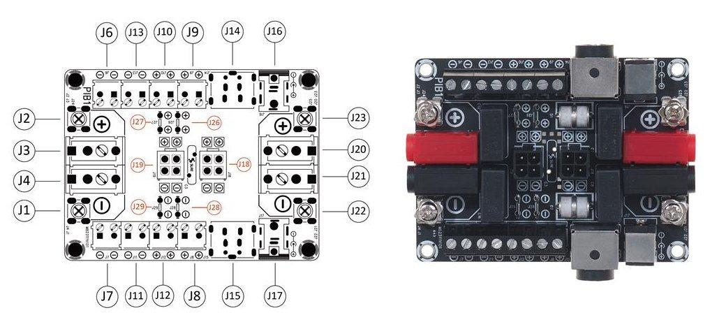 schema connectique BB31112 Wondom module breakoutbord