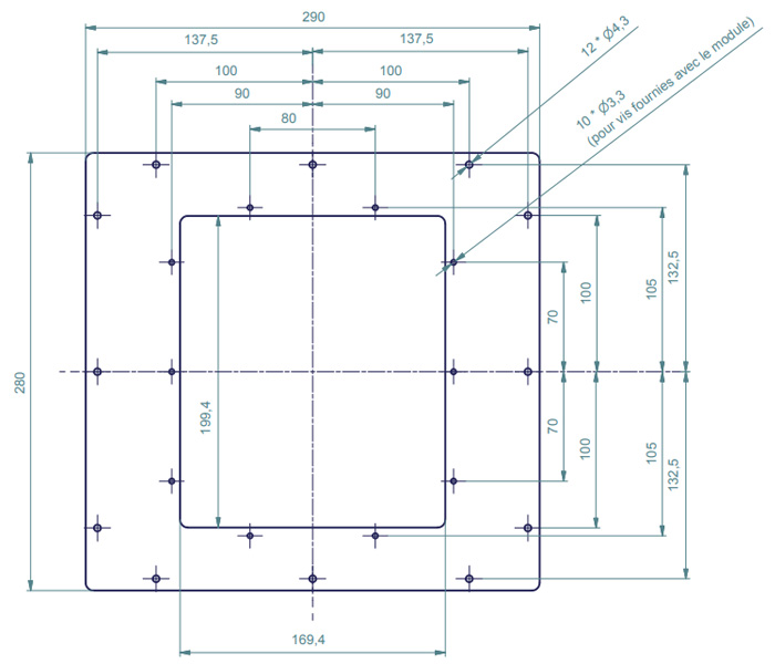 Atohm Platine D'adaptation pour S500 / S250