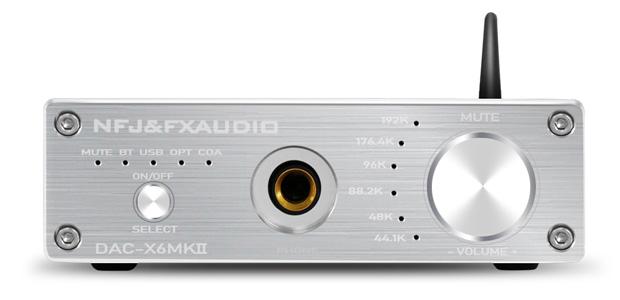 FX-Audio DAC-X6 MKII DAC ES9018 24bit 192kHz Amplificateur Casque Bluetooth 5.0 aptX QCC3008 Argent