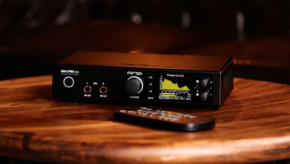 RME ADI-2 Pro FS R BLACK EDITION DAC ADC Amplificateur Casque Symétrique SteadyClock FS 768kHz DSD256