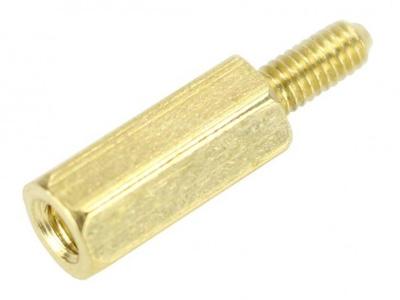 Entretoises Laiton M3x22 + 6mm Mâle / Femelle (x10)