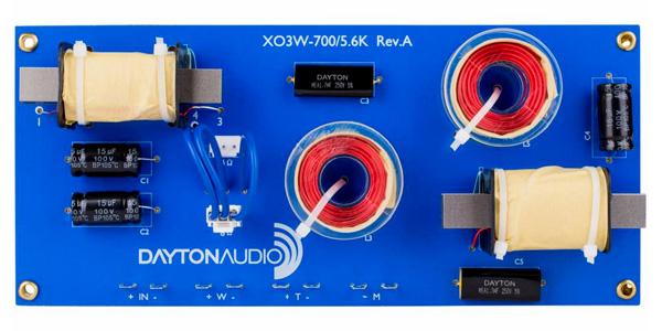 Dayton Audio XO3W-700/5.6K Filtre Crossover 3 Voies 700/5600Hz