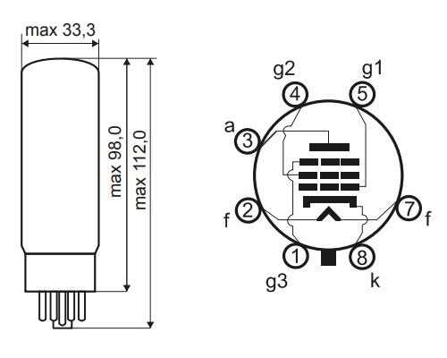 JJ Electronics E34L Tubes de Puissance (Set x4 Appairés