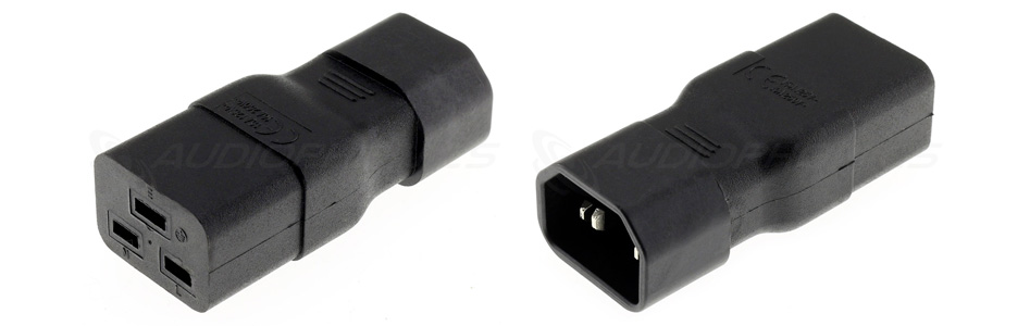 Adaptateur Connecteur Secteur IEC C14 vers IEC C19
