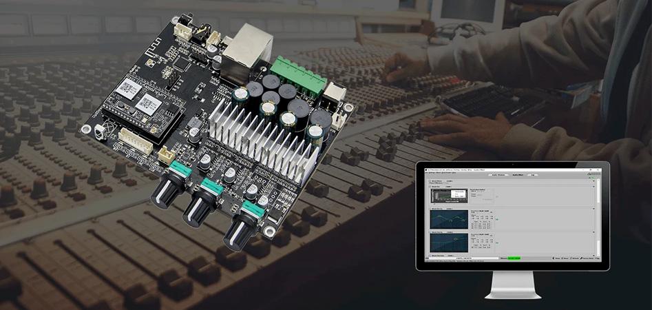 Up2Stream Amp 2.1 Module Amplificateur 2.1 WiFi DLNA Bluetooth 5.0 Contrôle de Tonalité 2x50W + 100W