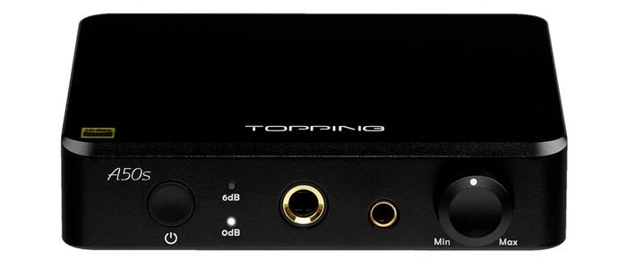 Topping A50s Amplificateur Casque Préamplificateur Symétrique Noir