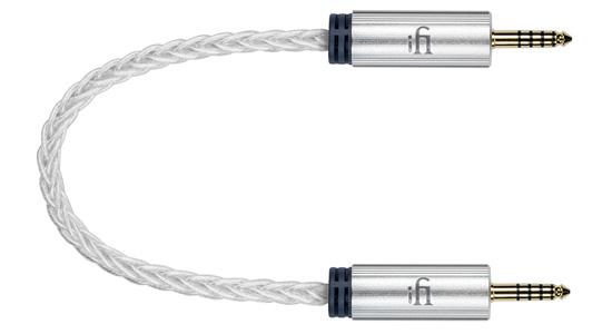 iFi Audio Câble Jack 4.4mm Cuivre OFHC Argent Blindé 2.08mm² 30cm