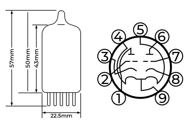 Shuguang 12AX7-T Tube d'Amplification Haute Qualité (Paire Appairée)
