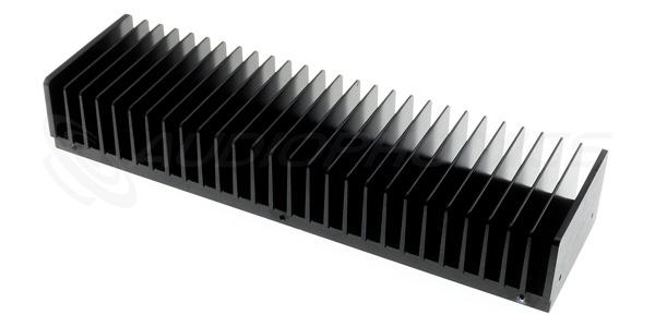 Radiateur Dissipateur Thermique Aluminium Anodisé 300 x 85 x 50mm Noir