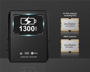 Hidizs DH80 Amplificateur DAC Symétrique Portable ES9281C Pro MQA DSD128
