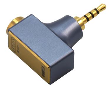 DD DJ44B Adaptateur Jack 4.4mm Symétrique Femelle vers Jack 2.5mm Symétrique Mâle Plaqué Or