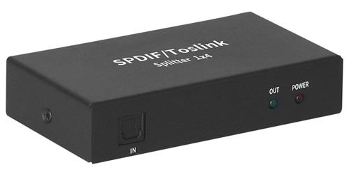 Splitter SPDIF Actif Optique Toslink 1 Vers 4