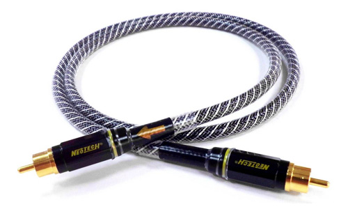 Neotech NEVD-2001 Câble Coaxial 75Ω Argent Blindé 1m