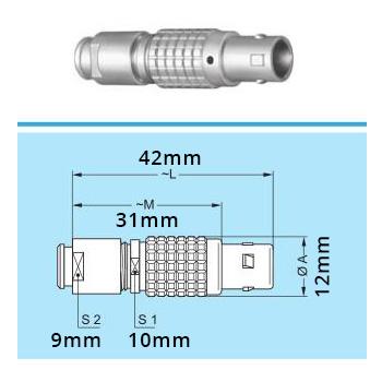 FGG 1B Connecteur 4 Pins pour Krell Cast