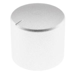 Bouton Aluminium 25mm Ø6mm Argent