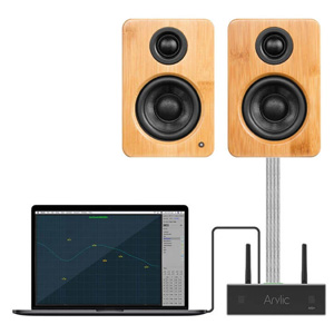 Arylic A50+ Amplificateur FDA STA326 WiFi DLNA UPnP Bluetooth 5.0 2x50W 4Ω