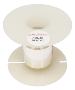 Mundorf MConnect Fil de câblage plat feuille d'argent 28x0.07mm