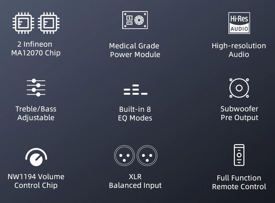 Sabaj A20a Amplificateur Class D 2x Infineon MA12070 Symétrique 2x90W 4 Ohm