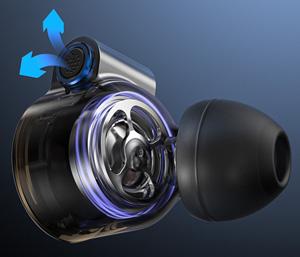FiiO FD3 Pro Écouteurs Intra-Auriculaires IEM Haut-Parleurs Dynamiques Membrane DLC 32 Ohm 10Hz-40kHz 111dB