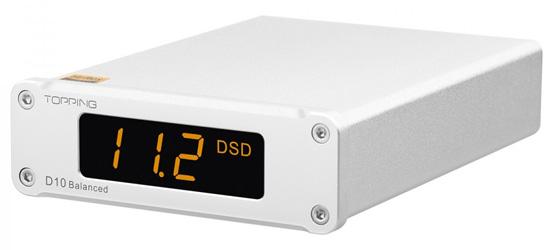 TOPPING D10 BALANCED DAC USB Symétrique ES9038Q2M XMOS XU208 32bit 384kHz DSD256 Noir