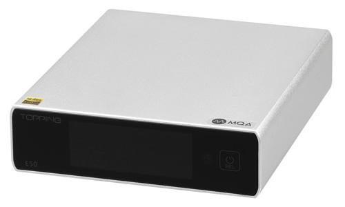 Topping E50 DAC ES9068AS XMOS XU216 Symétrique MQA 32bit 768kHz DSD512 Noir