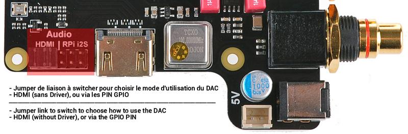 Jumper de liaison à modifier ES9018K2M HDMI