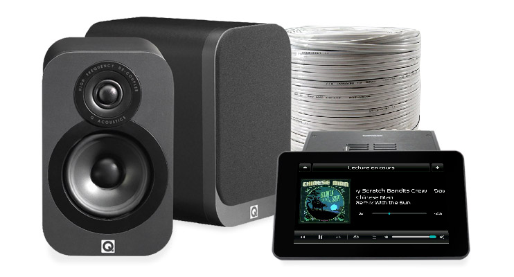 PACK RaspTouch Amp 9023 + Q Acoustics 3010i + Câble HP MEDIA-SUN